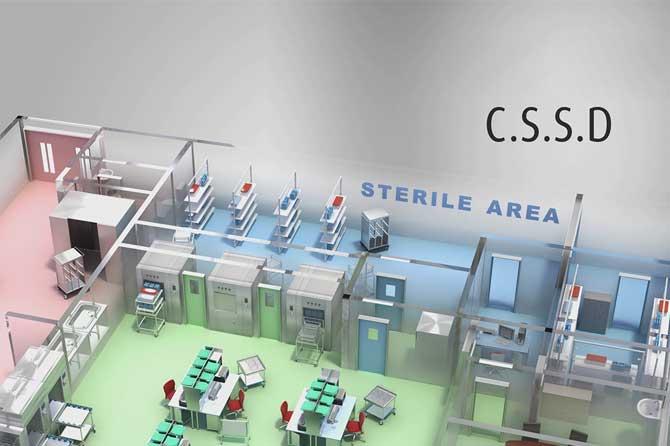 طراحی CSSD و قفسه بندی CSSD بیمارستان